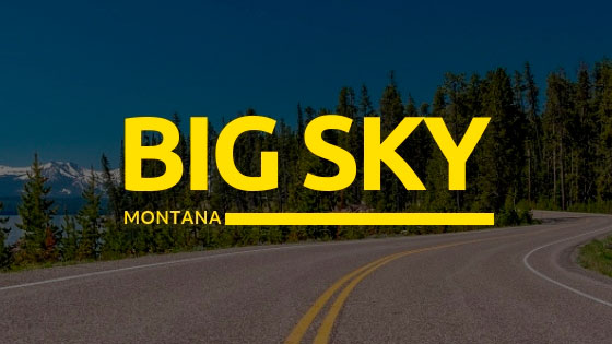 Carretera de Yellowstone viajar a Big Sky