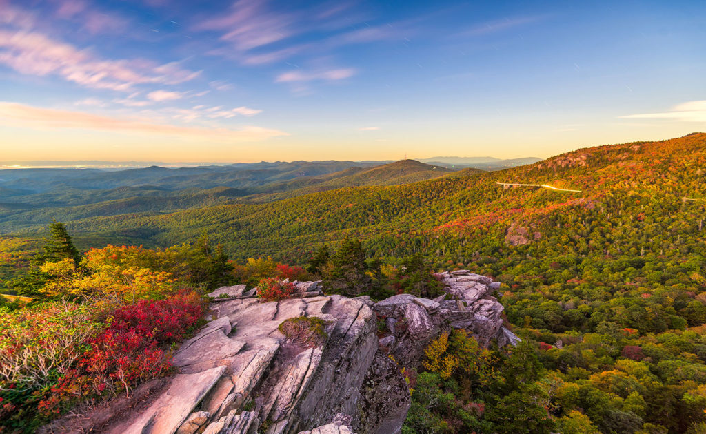 Sureste de Estados Unidos Blue Ridge Mountains